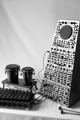 Percussionist 1, self-constructed percussion synthesizer